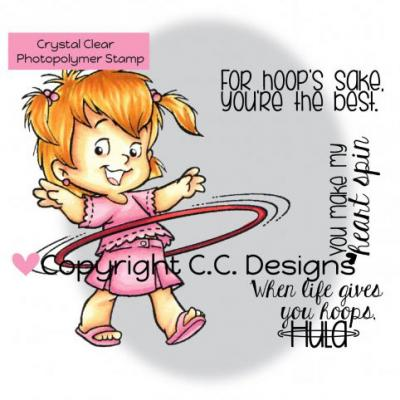 C.C.Designs Rubber Stamps Clear Stamps - Roberto's Rascals Hoola Twila