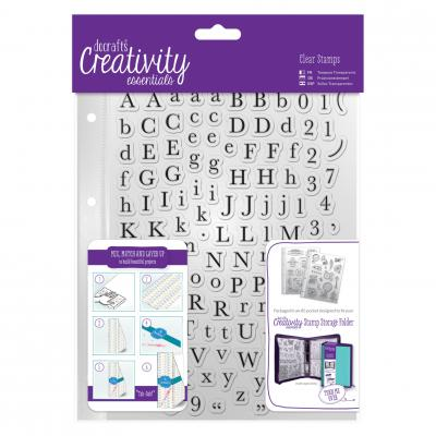 Creativity Essentials Clear Stamps - Traditionelles Alphabet
