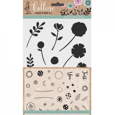 Kippershobby Clear Stamps mit Outline-Schablonen - Flowers For You