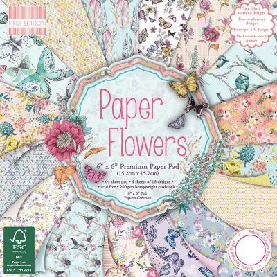 6x6'' Paper Pad Paper Flowers
