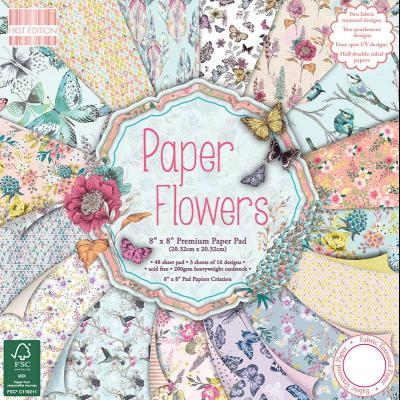 8x8'' Paper Pad Paper Flowers
