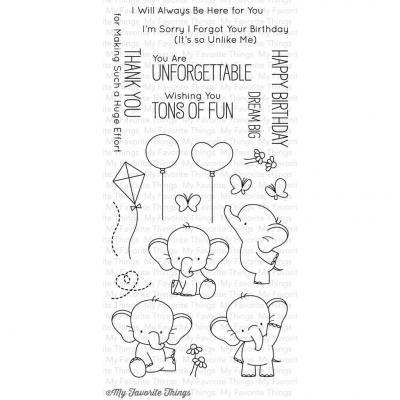 My Favorite Things Clear Stamps - Adorable Elephants