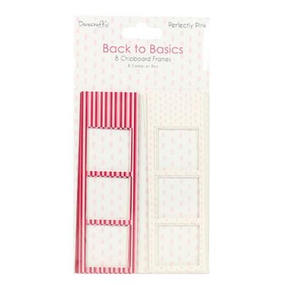 Back to Basics - Perfectly Pink  - Chipboard Rahmen
