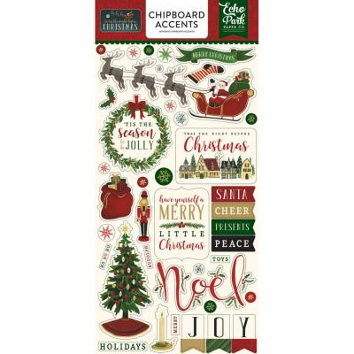 Twas The Night Before Christmas Chipboard Embellishments 6 x 12 Inch