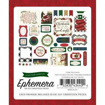 Twas The Night Before Christmas Die cuts Empemera Pack