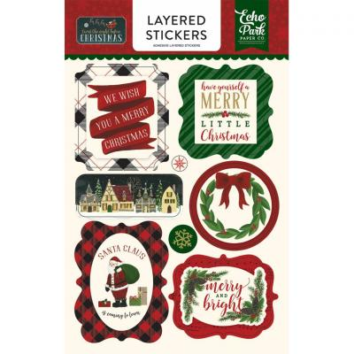 Twas The Night Before Christmas Layeres Sticker Embellishments
