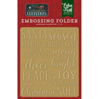 Twas The Night Before Christmas Merry & Bright Embossing Folder
