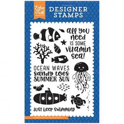 Echo Park Clear Stamps - Under The Sea Stempelset