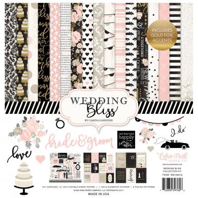 Echo Park Wedding Bliss Designpapier - Collection Kit