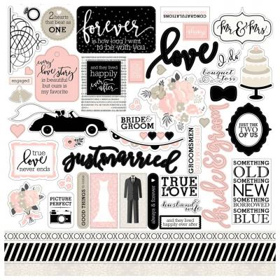 Wedding Bliss - Stickerbogen 12x12 inch