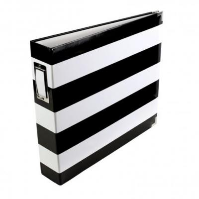Project Life Album 30,5x30,5cm Black & White Stripe
