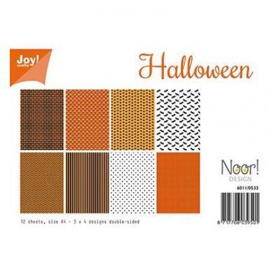 Halloween Joy Desingpapier Din A4 12 Blatt Kreativbunt
