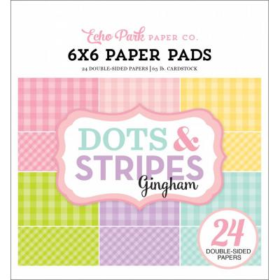 Echo Park Spring Gingham Dots & Stripes 6x6 inch