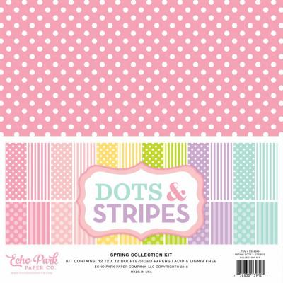 Echo Park Spring Dots & Stripes 12x12 inch