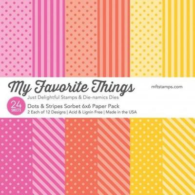 My Favorite Things Paper Pad - Dots & Stripes Sorbet