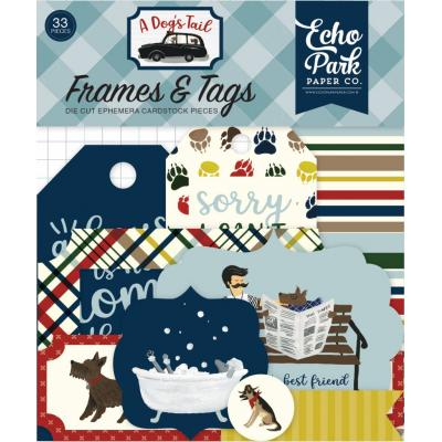 Echo Park A Dog's Tail Die Cuts - Frames & Tags