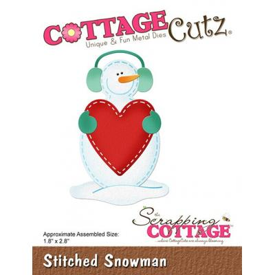 Cottage Cutz - Stitched Snowman
