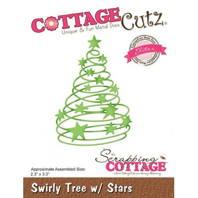 Cottage Cutz - Swirly Tree with Stars
