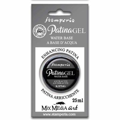 Stamperia Patina Gel Anthracite 25ml