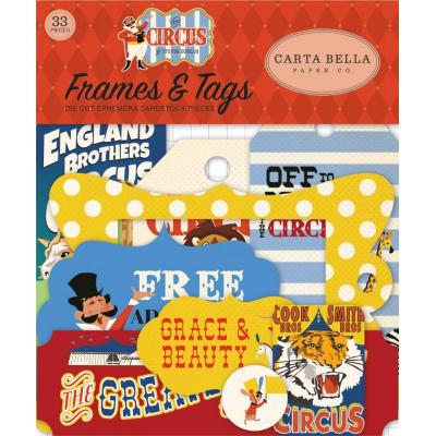 Carta Bella Circus Die Cuts - Frames & Tags