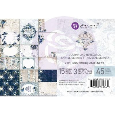 Prima Marketing Georgis Blues - Journaling Cards