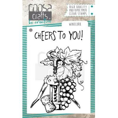 COOSA Crafts Clear Stamps - Winecork