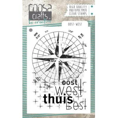 COOSA Crafts Clear Stamp - Ost-West