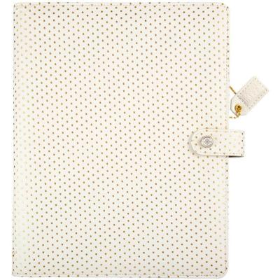 Websters Pages Composition Planner - Gold Polka Dots