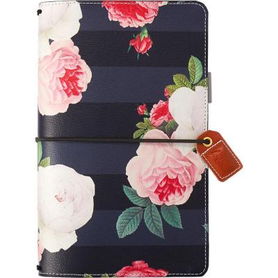 Websters Pages Traveler's Notebook Planner - Black Floral