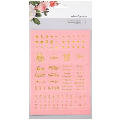 Websters Pages Sticker - Pink Words