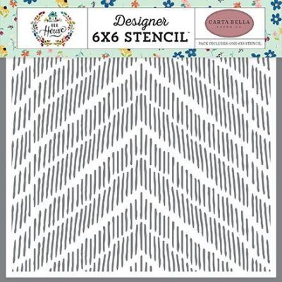 Carta Bella Schablone - Distressed Chevron