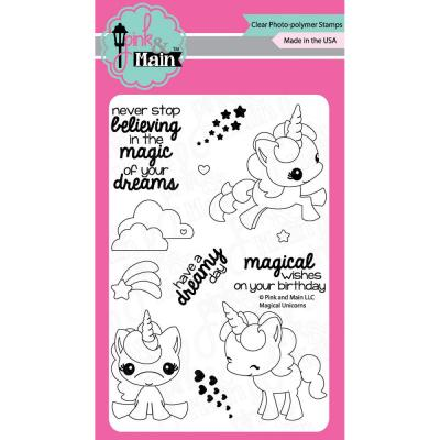 Pink & Main Clear Stamps - Magical Unicorns