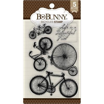 BoBunny Clear Stamps - Bicycles