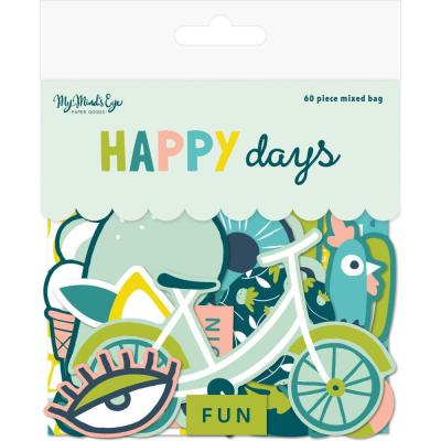 My Mind's Eye - Happy Days Mixed Bag Cardstock Die-Cuts
