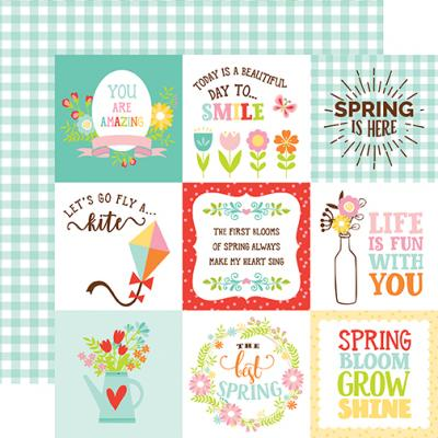 Echo Park Spring Fling - 4x4 Journaling Cards