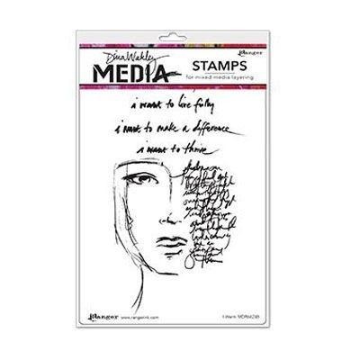 Ranger Dina Wakley Cling Stamps - I want