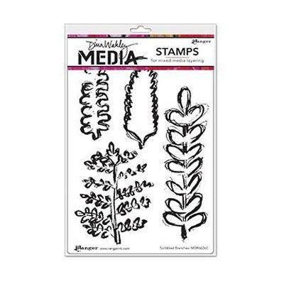Ranger Dina Wakley Cling Stamps - Scribbled Branches