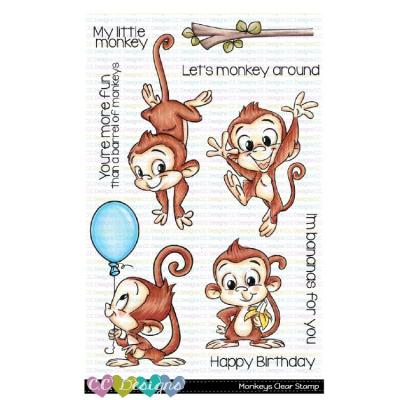 C.C.Designs Clearstamps - Monkeys
