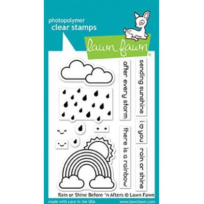 Lawn Fawn Clear Stamps - Rain Or Shine Before 'n Afters
