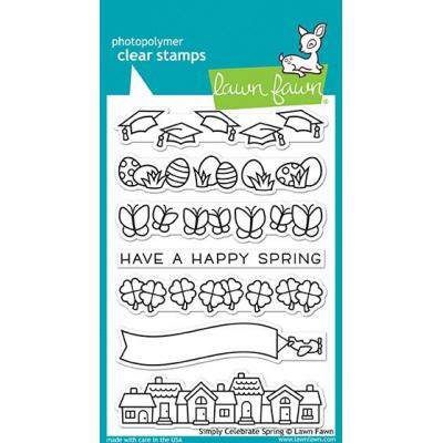 Lawn Fawn Clear Stamps - Simply Celebrate Spring