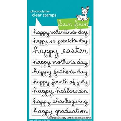 Lawn Fawn Clear Stamps - Celebrate Scripty Sentiments