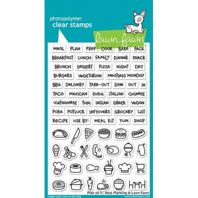 Lawn Fawn Clear Stamps - Plan On It: Meal Planning