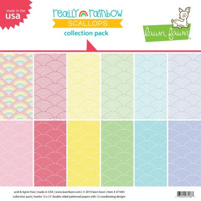 Lawn Fawn Collection Pack - Really Rainbow Scallops