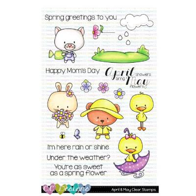 C.C.Designs Clear Stamps - April & May