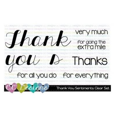 C.C.Designs Clear Stamps - Thank You Sentiments