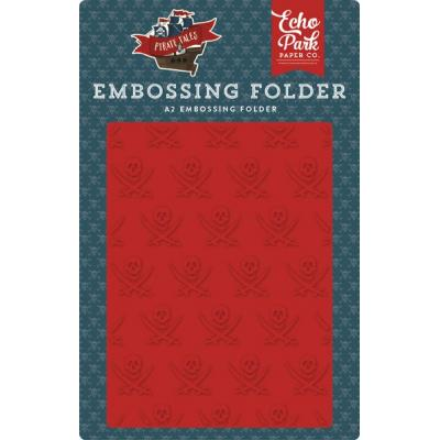 Echo Park Pirate Tales Embossing Folder  - Buccaneer