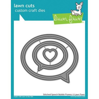 Lawn Cuts Stanzschablonen - Stitched Speech Bubble Frames