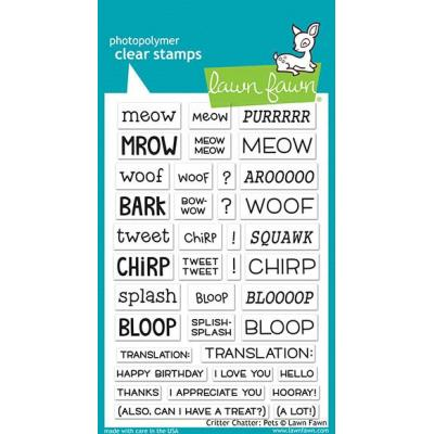Lawn Fawn Clear Stamps - Critter Chatter: Pets