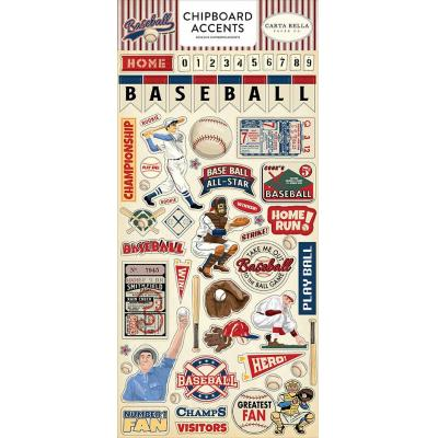 Carta Bella Baseball - Chipboard Accents