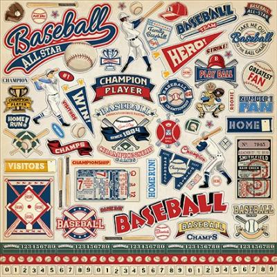 Carta Bella Baseball - Element Sticker